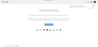Tampilan akhir saat pendaftaran gmail