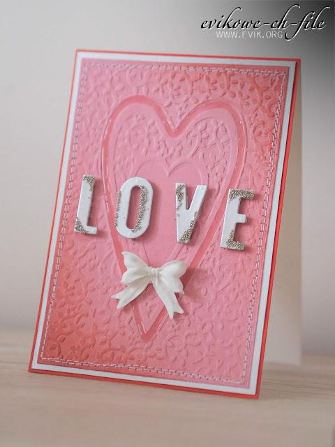 Ewa Jarlińska, Evik, kartka walentynkowa, love card, valentine's day card, glossy accent