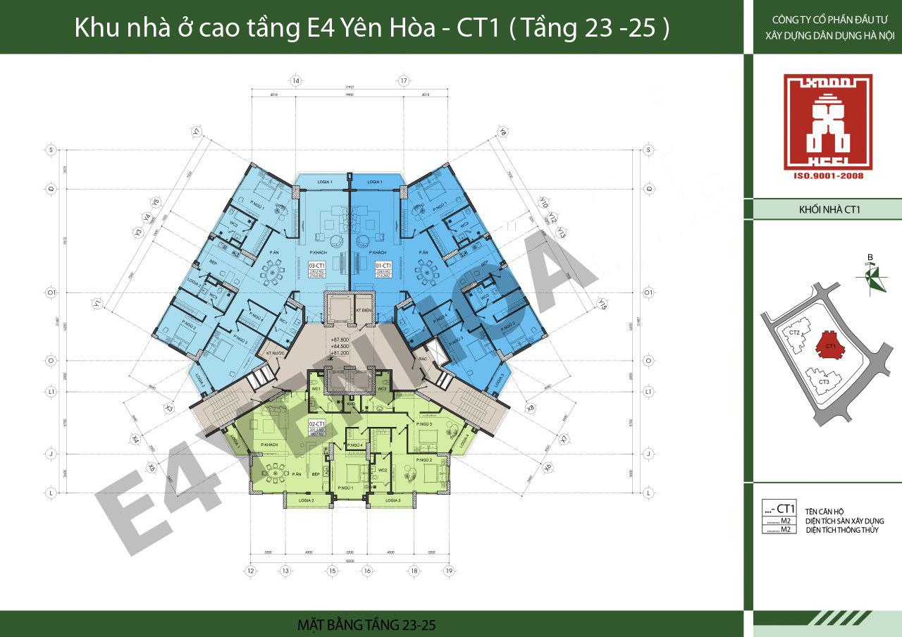 Tòa CT1 chung cư e4 yên hòa