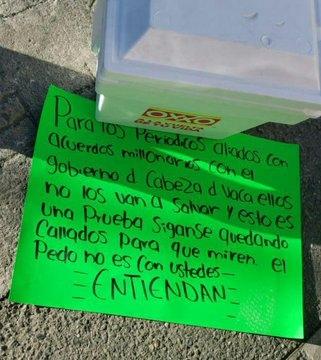 """CDVICTORIA: DEJAN CABEZA HUMANA Y MANOS EN """"DIARIO EXPRESO"""" CON NARCOMENSAJE X6"""