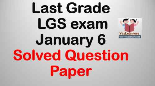 Last Grade Servant LGS January 6 Solved Question Paper