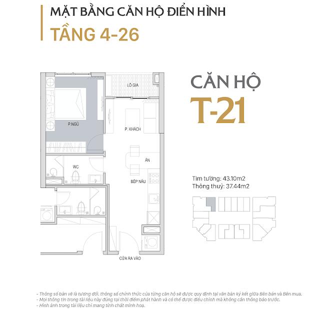 Thiết kế chi tiết căn hộ E1-21 dự án D'el Dorado phú thượng