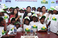 Shriya Saran and Meenakshi Dixit Pos at Quaker Feed A Child Campaign  0041.jpg