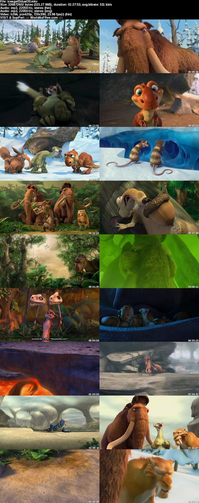 ice age dawn of the dinosaurs 480p download