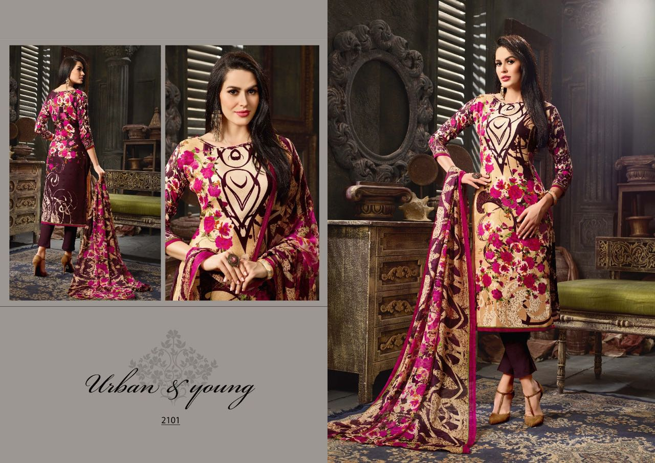 Jessi Vol 2 – Latest New Collection Of Pashmina Printed Dress Material