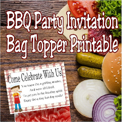 Invite your family and friends over for a fun BBQ party with this printable bag topper invitation.  Simply print out this unique invitation, add to a bag of Hot Tamale candies, and excite everyone for your amazing BBQ skills.