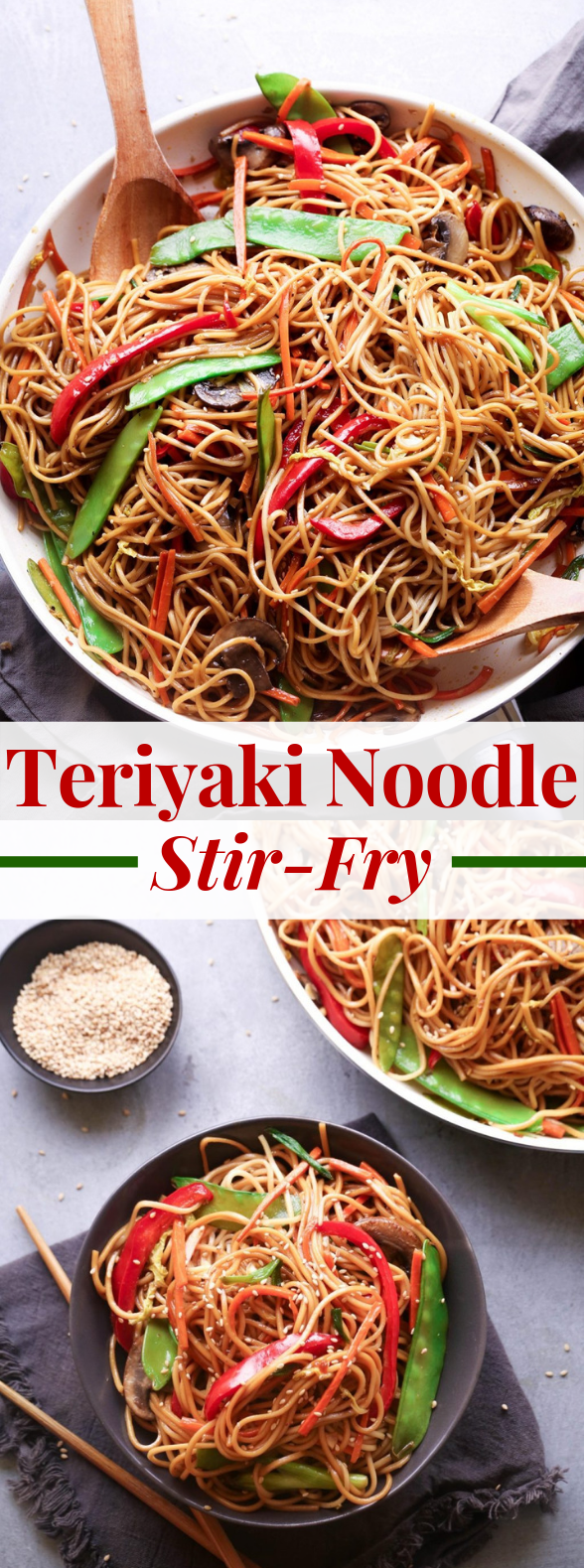 Teriyaki Noodle Stir-Fry #vegetarian #veggies