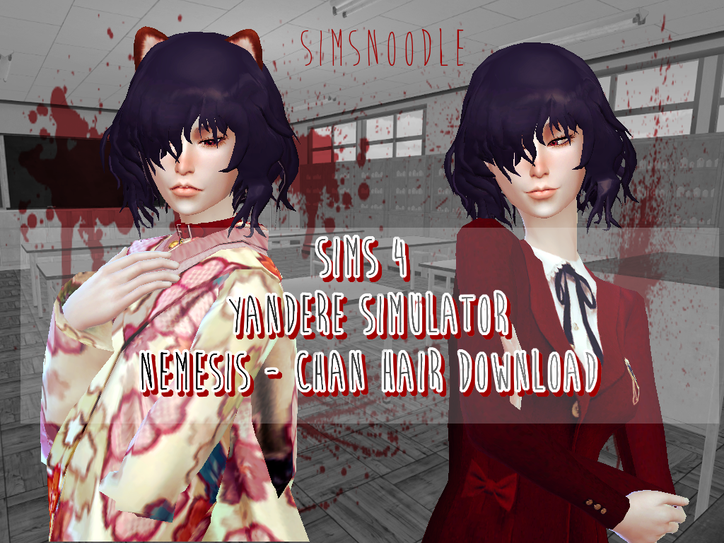 Sims 4 - Yandere Simulator -- Nemesis Chan Hair Mod