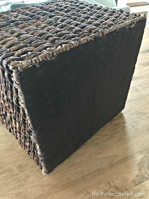Easy fix to protect surfaces from rattan baskets