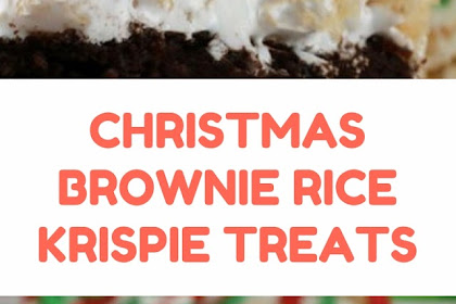 CHRISTMAS BROWNIE RICE KRISPIE TREATS #christmas #dessert