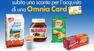 Logo Con Kinder e Ferrero uno sconto sicuro per Omnia Card