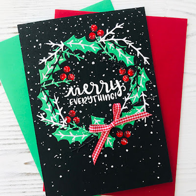Merry everything by Bobbi features Pines & Holly and Sentiments of the Season by Newton's Nook Designs; #newtonsnook