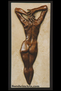 Ten small wall-hanging bronze sculpture gift with purchase of original stone carving