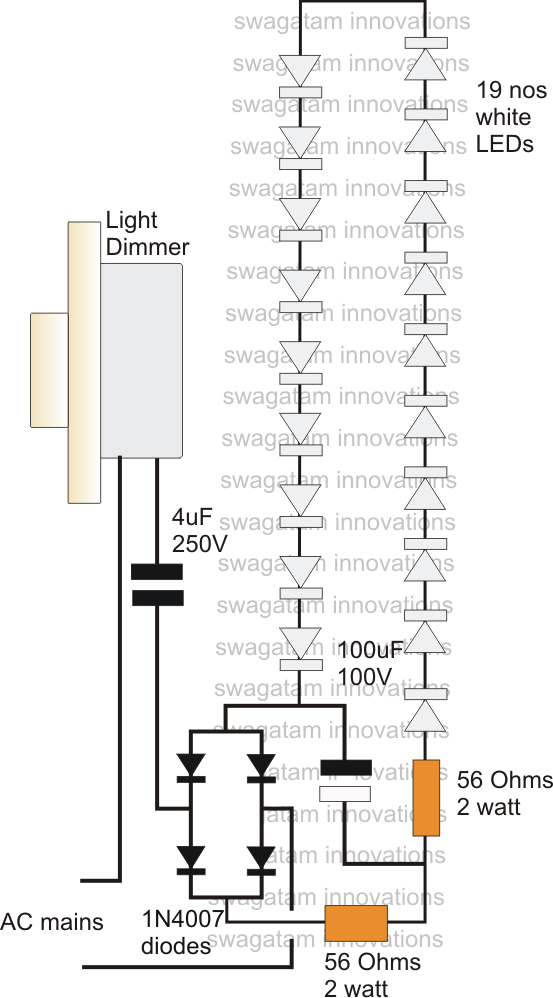 Using Fan Dimmer For Controlling Led on How To Connect Current Transformer