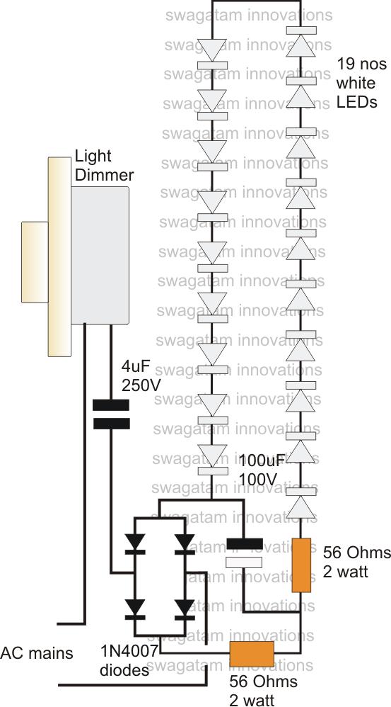 led dimmer  led dimmer circuit diagram