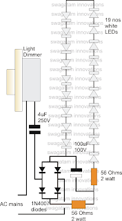 Using a Fan Dimmer for Controlling LED Tubelight Intensity
