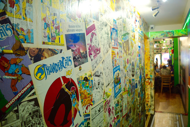 Thundercats decor in Atomic Burger Bristol