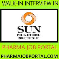 SUN PHARMA LTD Walk n Interview For Multiple Positions at 16 Sep