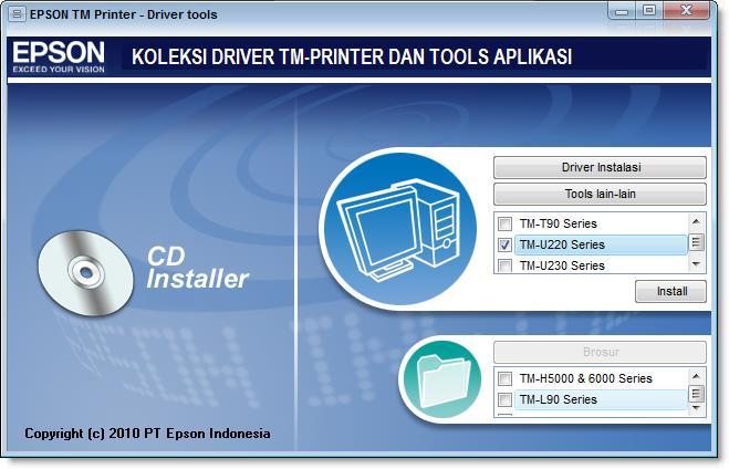 Cara Instal Driver Printer Epson Tmu220 Usb Lengkap Kirimartikel