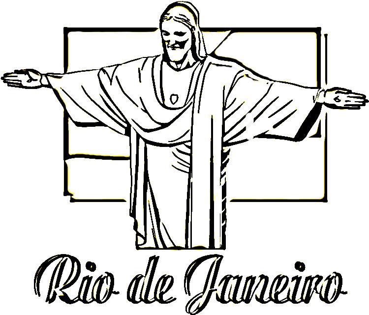 Extremamente Desenhos do Cristo Redentor para Colorir | Desenhos para colorir  ZV09