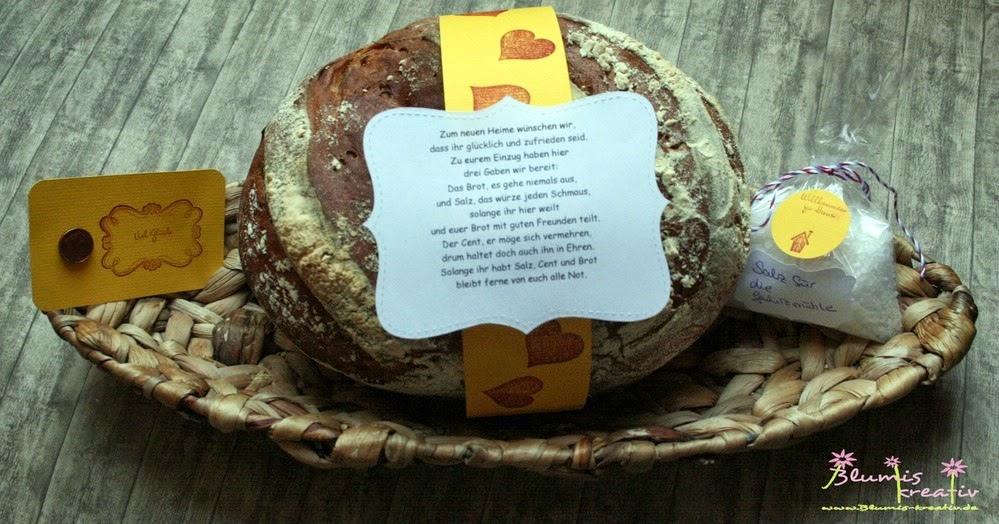 Blumis kreativ Blog Brot und Salz zum Einzug ins neue Heim