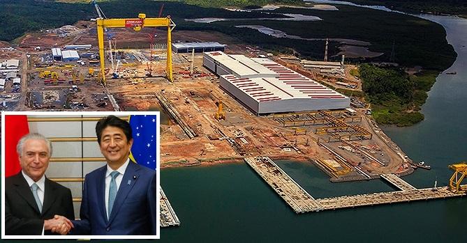 Maragogipe: Estaleiro Enseada do Paraguaçu é lembrado por ministro japonês em visita de Temer