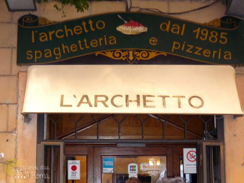 Restaurante de espaguetis L'Archetto en Roma