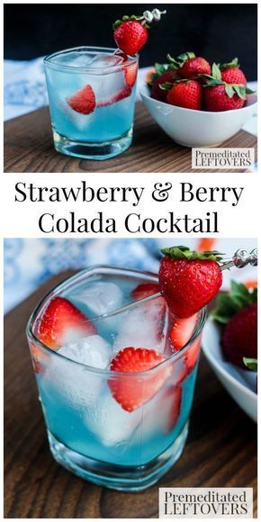Strawberry & Berry Colada Cocktail Recipe