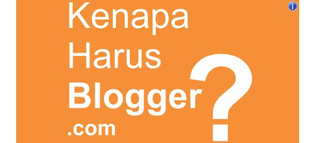 8 Alasan Mengapa Memilih Blogger Blogspot untuk Blog dan Blogging Kamu – Aktivitas blogging itu menyenangkan! Menulis dan menceritakan pengalaman menarik dan diposting online memberikan nuansa tersendiri. Apalagi jika tulisan yang dibuat memiliki respon dari banyak pembaca, dikomentari dan disukai banyak orang, pasti akan sangat bermakna dan membuat hati seorang blogger menjadi bahagia dan berbunga-bunga.   Tidak hanya itu, bagi yang telah lama blogging dan memiliki ribuan visitor di blognya pasti akan menjadi lebih bahagia lagi. Terutama jika dia sebagai publisher adsense dan publisher iklan yang berlabel internet marketer juga affilate marketer pastinya happy blogging yang dilakukannya akan menjadikannya tambah bahagia. Karena dengan blogging dia bisa mendapatkan pundi-pundi rupiah dan dollar dari internet. Sungguh luar biasa...    Aktivitas blogging memang bisa mendatangkan uang bagi seorang blogger. Tapi, bukan itu yang menjadi patokan utama mengapa seseorang memilih untuk menjadi blogger.   Tujuan utama seseorang menjadi blogger dikarenakan memiliki hobi menulis dan suka berbagi ilmu kepada banyak orang melalui media online dengan blog atau website personal.  Kamu yang saat ini sedang membaca tulisan saya pasti sedang dilema dan bingung!   Bagi kamu yang sedang ingin membuat blog / website pribadi secara gratis umumnya kamu akan disuguhkan banyak pilihan untuk membuat blog. Namun yang paling populer di indonesia saat ini adalah blogger.com dan wordpress.com karena keduanya merupakan platfrom blog gratis yang cukup fenomenal di kalangan blogger indonesia.   Meski demikian kedua platfrom tersebut memiliki kelebihan dan kekurangannya masing-masing!   Dalam kesempatan ini! Saya hanya akan secara khusus membahas beberapa alasan penting mengapa memilih blogger.com untuk membuat blog / website personal kamu.  8 Alasan Mengapa Memilih Blogger.com untuk Membuat Blog  1. Blog Milik Google (Produk Resmi dari Google.Inc)  Alasan pertama mengapa kamu harus memilih blogger.c
