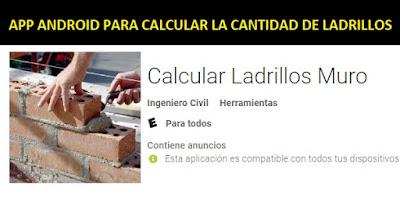 App Android para calcular la cantidad de ladrillos