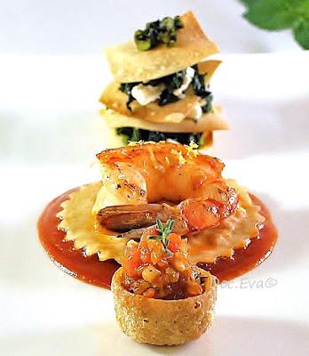 Ratatouille,Spanakopita,Ravióles,Tomatensauce Stifado-Style, Cooking Star 2016