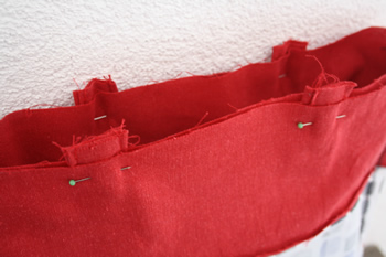 Tote bag tutorial - happy in red