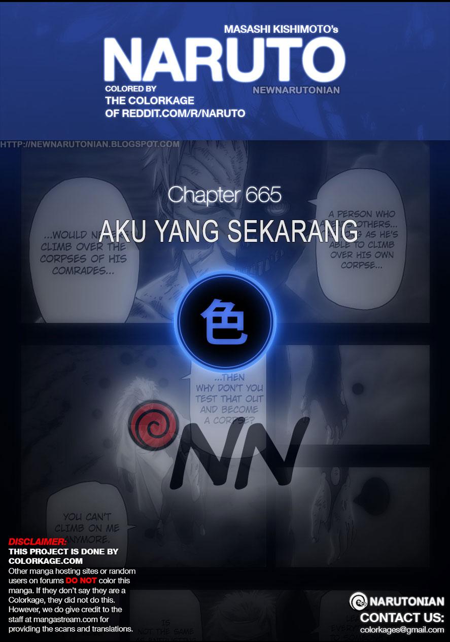 Cover Naruto 665   Aku yang Sekarang