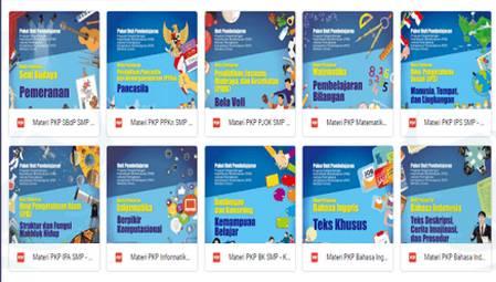 Paket Unit Pembelajaran Program PKB SMP melalui PKP berbasis Zonasi