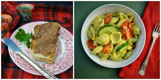 Spicy Black Bean Pate and The Best Summer Pasta Salad