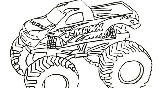 Coloring Pages Fun: Monster Truck Coloring Pages