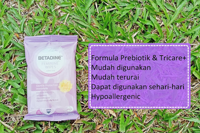 betadine feminine wipes pembersih organ kewanitaan
