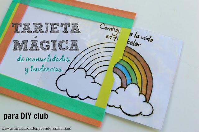 Cómo hacer una tarjeta mágica infantil