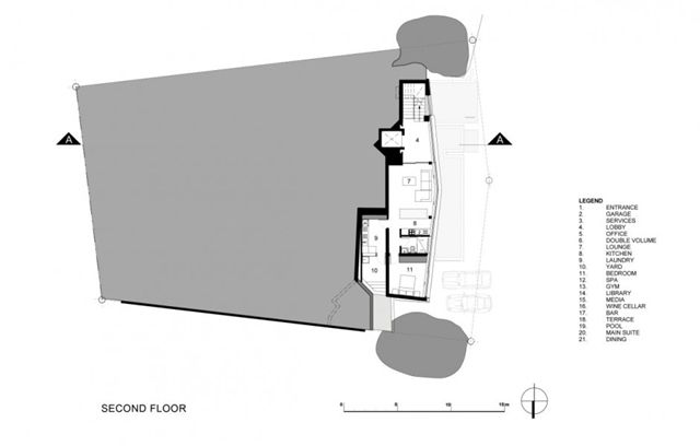 Illustration of the second floor