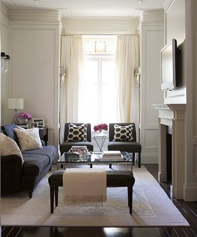 Also A Great Example Of How Furniture Can Successfully Be Placed In Front Window And Look