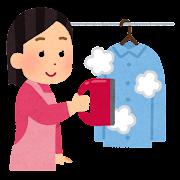 衣料スチーマーのイラスト