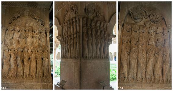 Bajorrelieves del claustro romanico de santo Domingo de Silos