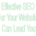 Effective SEO For Your Website Can Lead You