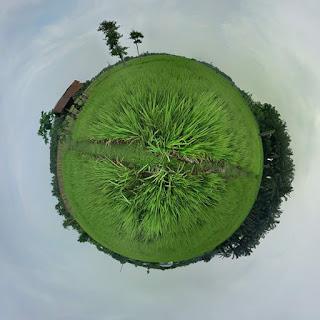 Cara membuat efek tiny planet menggunakan google camera
