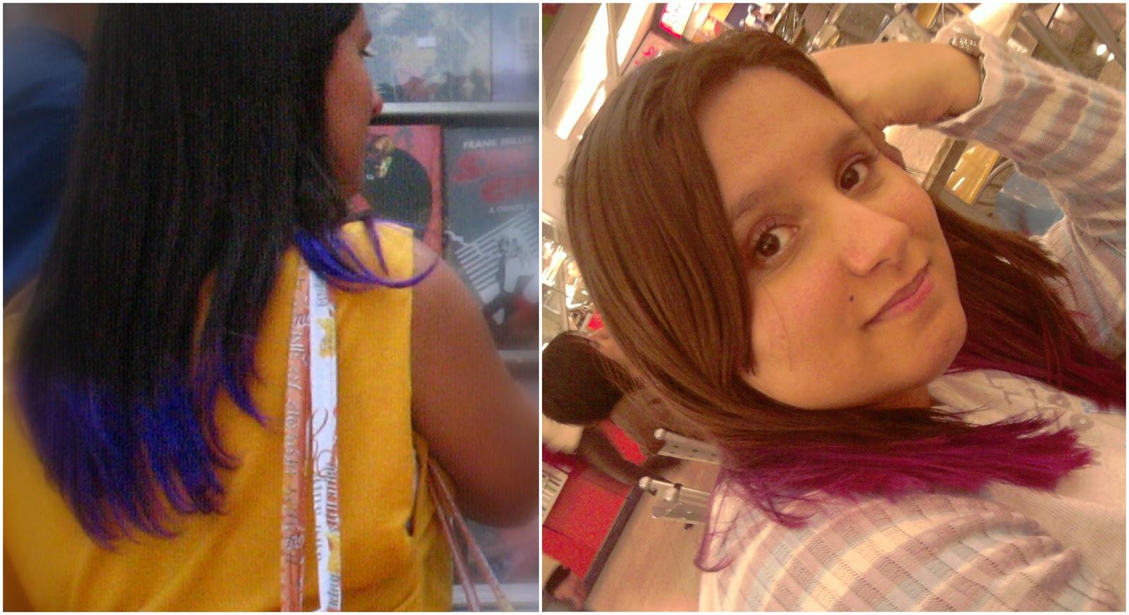 cabelo roxo, cabelo magenta, cabelo rosa