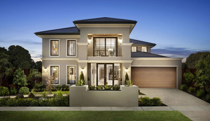 MyHousePlanShop: Double Story House Design With Cream ...