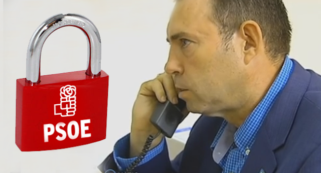 Ferraz cuelga el teléfono al alcalde de Jun (Vídeo de la llamada a la sede del PSOE)