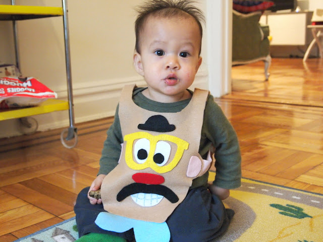 DIY Mr. Potato Head Baby Halloween Costume