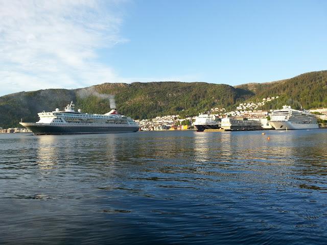Fred. Olsen cruise ship Balmoral in Bergen, Norway