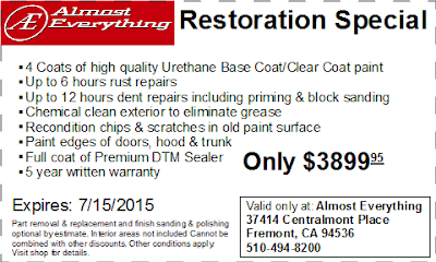 Coupon Auto Restoration Special June 2015